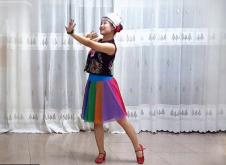格格广场舞山歌连着妹和哥正面背面演示教学 民族舞