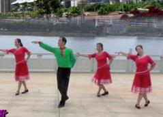 劉峰廣場舞獻給祖國的歌正背面演示分解 民歌風