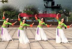 安徽繁舞飛韻廣場舞西塞山前白鷺飛正面背面演示