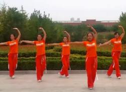 舞动旋律2007健身队广场舞健身操天籁之爱 正反面演示教学