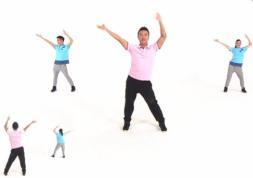 王广成龙马精神美臀操正反面演示教学 最新广场舞 办公室 美臀操