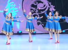張春麗廣場舞心向藍天團隊正面演示 云飛《心向藍天》歌詞mp3下載