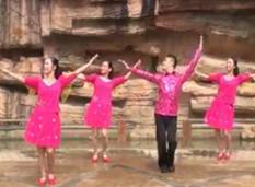 广西廖弟广场舞嗨起来正背面演示教学 广西廖弟鑫声广场舞嗨起来
