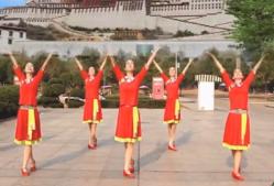 爱吾广场舞我的家乡叫天堂正反面含教学 谭维维《我的家乡叫天堂》