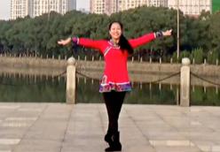王梅广场舞为乌兰察布喝彩个人演示 含教学 蒙古舞