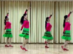 応子广场舞傣家姑娘正面背面演示教学 民族舞