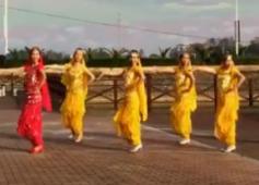 爱吾广场舞印度情歌对唱含教学 水兵踢踏舞