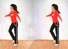 慧琴广场舞鬼步舞四个小和尚含教学 鬼步弹跳基础步 简单8步