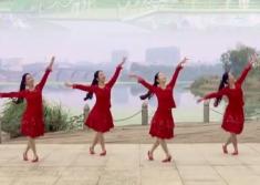 阿中中梅梅翠翠广场舞爸爸的村庄正面背面演示教学