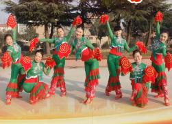天姿广场舞福门开好运来正面背面 手绢舞 2017年新年广场舞
