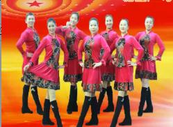 刘荣广场舞吉祥如意中国梦正面背面演示教学 演唱:吴庆国