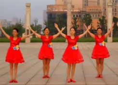 阿中中梅梅翠翠广场舞祖国颂正背面演示教学 张也《祖国颂》歌词MP3