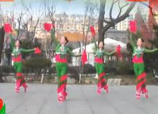 刘荣广场舞新年快乐新年吉祥正面背面含教学 2017年新舞 鸡年新年广场舞