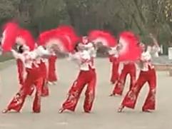 四川省第一套健身秧歌规定套路演示及教学 舞曲太阳出来喜洋洋