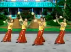 花棍舞 杨艺刘奥激情广场健身舞 舞曲锦绣中华