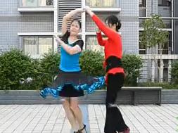 兰玉广场舞 吉特巴 双人舞交谊舞  舞曲对不起,现在我才爱上你