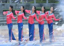 張春麗廣場舞寒冬暖愛團隊正面演示 舞曲陳瑞《寒冬暖愛》