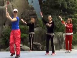 草原的夏天广场舞团队演示 编舞凤凰六哥 幸福天天万盛风韵合作版