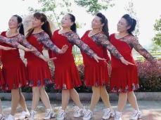 惠汝广场舞心锁演示教学 简单好看的中老年广场舞