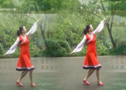 幸福天天广场舞心中的次仁拉姆正面背面 舞曲泽仁伍波《心中的次仁拉姆》