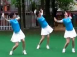 湖南紫玫瑰广场舞嗨起来正面背面演示教学