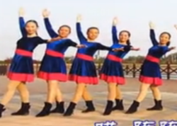 爱吾广场舞情歌大声唱正面背面演示教学 舞曲乌兰托娅/赵洪涛《情歌大声唱》
