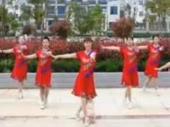 惠汝广场舞红红火火唱起来正反面含教学 舞曲陈小虎《红红火火唱起来》