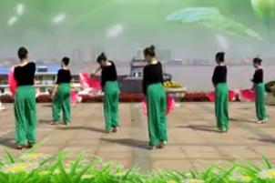 九江百姓健康舞向霞健身舞团《茉莉花》原创 正背面 视频舞蹈免费下载