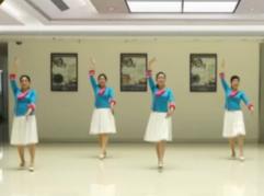紫紫雨广场舞回族姑娘正背面演示教学 回族三步舞