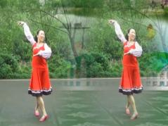 幸福天天广场舞火红的萨日朗含分解 编舞沚水 热情大方的中老年广场舞