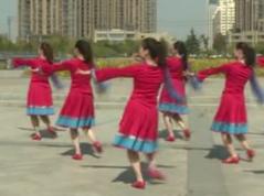 林芝桃花香廣場舞背面演示 安徽綠茶飛舞廣場舞 藏舞風格