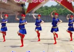 江西娇娇飞雪广场舞党员干部五带头团队演示 热情大方的中老年广场舞