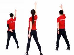 拥抱幸福广场舞背面演示 王广成中信银行广场舞