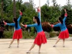 爱的魔力广场舞背面舞蹈视频 娇娇飞雪广场舞爱的魔力