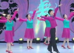 艺子军广场舞摘苹果团队正面演示 活泼大方的中老年广场舞