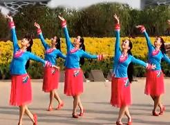 王梅广场舞画颜含背面演示教学 秋日馨香广场舞画颜正面演示