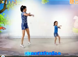 阿采广场舞 母女版《快乐小猪》糖豆儿童节 原创含教学和背面 中老年广场舞