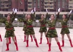 江西高安飛揚廣場舞八一軍旗紅 八一建軍節舞蹈