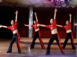 天姿广场舞嗨起来正反面演示 时尚动感的中老年广场舞