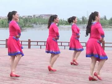 安徽綠茶飛舞廣場舞 草原姑娘 背面展示 視頻舞曲下載