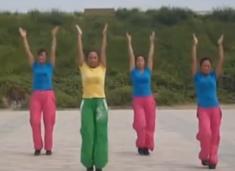 舞动旋律2007健身队 简易行进操 佳木斯健身操