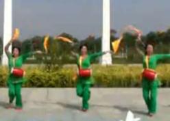 阿中中廣場舞中國鼓正反面含教學 秧歌舞