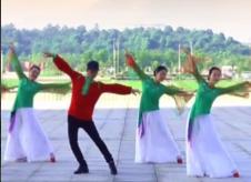 阿中中梅梅翠翠廣場舞鏡子里的女人含教學 演唱:陳瑞