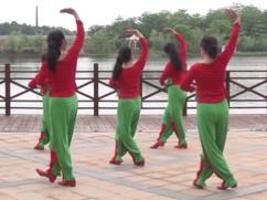 新沂蒙頌廣場舞團隊背面演示 江西高安飛揚廣場舞