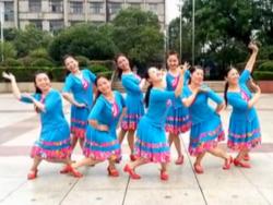 応子广场舞黄玫瑰(新版)正反面含教学 江西灵动飞舞队团队正面
