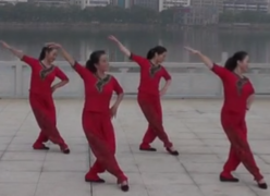 劉峰廣場舞莊稼院的歌正面舞蹈視頻