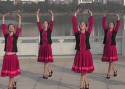 劉峰廣場舞甜甜的歌兒迎貴客團隊正面演示