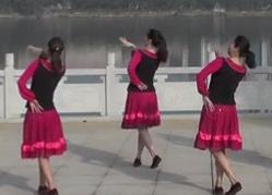 甜甜的歌兒迎貴客劉峰廣場舞背面舞蹈視頻
