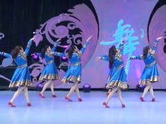 盛开的马兰花广场舞背面演示 格格携天津水之韵舞蹈队演示