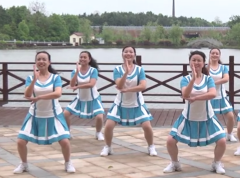 詠春style高安飛揚廣場舞團隊正面演示 熱情動感的中老年廣場舞